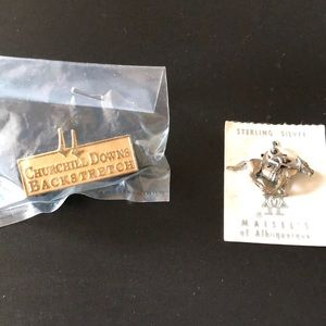 Jewelry - Vintage pin and vintage charm.